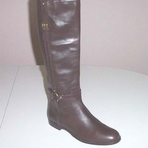 COACH Women's Monday brown tall riding boots 9.5